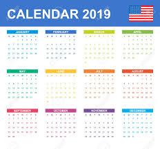 Calendar Scheduler Template Usa Calendar For 2019 Scheduler Agenda Or Diary Template Week