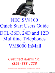 Nec Phone Blinking Red Light Nec Dtl 12d 1 Dt330 12 Button Display Users Manual Sv8100