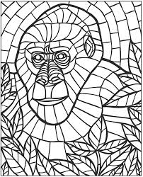 Small Picture Mosaic coloring pages monkey ColoringStar