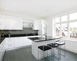 ... Black And White Tiles Kitchen Pleasant 19 ...