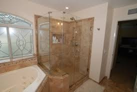 master bathroom corner showers. Corner Tub \u0026 Shower Seat Master Bathroom Reconfiguration Yorba Linda Traditional-bathroom Showers R