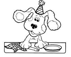 Small Picture Good Blues Clues Coloring Pages 90 With Additional Gallery