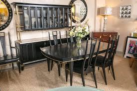 vintage hollywood regency curved wood dining