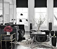Zebra Rug Living Room Living Room With Black Furniture And Zebra Rug Decorating With