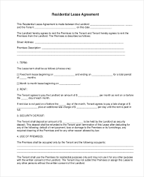 Apartment Rental Agreement Template Word Unique Sample Residential Lease Form 48 Free Documents In Doc PDF