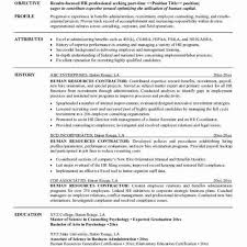 Hr Resume Objective Statements Fascinating Resume Objective Template Magnificient Sample A Resume Roddyschrock