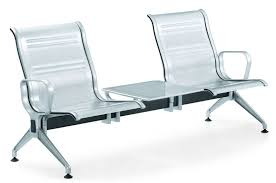 high quality airport furniture aluminium arms legs stainless steel chair with table