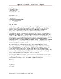 Best Solutions Of Sample Education Cover Letter Sample Resume