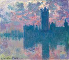 claude monet series the houses of parliament