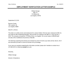 Employment Verification Letter Template Word Employment Verification Letter Letter Of Employment