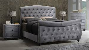 Bedroom Design:Sleigh Bed Grey Classic Sleigh Bed