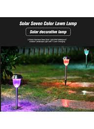 Solar Light Packs Shop Generic 2 Piece Solar Outdoor Landscape Light Set Multicolour 0 33 Kg Online In Dubai Abu Dhabi And All Uae