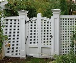 vinyl lattice fence panels. Unique Vinyl Cellular Vinyl Lattice Gate  This Low Maintenance Cellular Vinyl Gate Has  Charming End Cut Details On The Uprights The Square Posts Have  On Fence Panels E