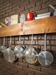 Kitchen Wall Hanging Diy Kitchen Storage Shelf And Pot Rack Hgtv