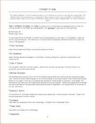 3 Professional Statement Of Work Templates Doc Templateinn