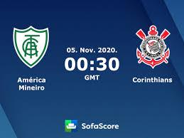 América Mineiro Corinthians live score, video stream and H2H results -  SofaScore