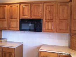 Exellent Painting Oak Kitchen Cabinets White In Decorating