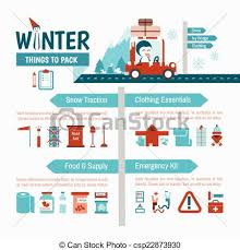 Packing List Beauteous Winter Driving Packing List Infographics For Safety Trip