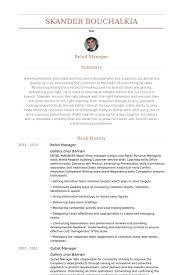 Department Store Manager Resumes Cv Examples For Retail Management