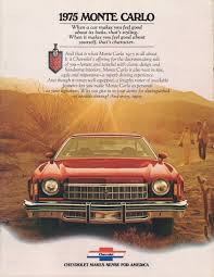 GM 1975 Chevrolet Monte Carlo Sales Brochure