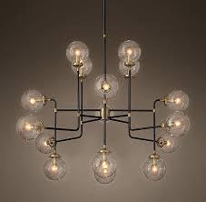 16 light chandelier bistro globe clear glass light chandelier 16 light crystal chandelier