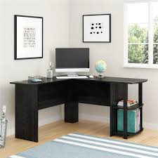 transitional lshapedcorner desk  black ebony ash  desks