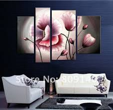 wall art for home office. Flower Oil Painting Contemporary Abstract Art Canvas Hand Painted Modern Home  Office Hotel Wall Decor For