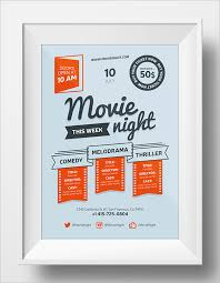 Movie Night Poster Template Word - Irosh.info