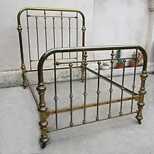 antique brass bed. Vintage Brass Bed Two Inch Tubing On Casters Size Full ? Interlocking Frame Antique N