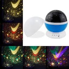 Kids Bedroom Lamp Night Lamp Lighting Projector Led Star Romantic Bedroom Moon 360