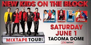 Tacoma Dome Seating Chart Nkotb New Kids On The Block At The Tacoma Dome Warm 106 9