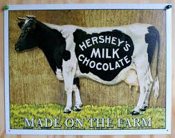 Farm Animal Kitchen Decor Hershey Milk Chocolate Made On The Farm Tin Sign Kisses Kitchen