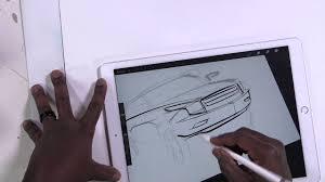 Ipad Design Sketch Ipad Pro How To Draw A Car The Blob Method