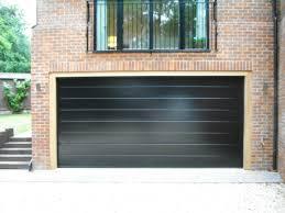 hormann sectional m ribbed in black garage door
