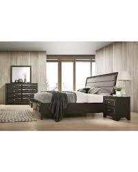 upholstered king bedroom sets. Asger Antique Gray Finish Wood 4-PC Upholstered King Bedroom Set, Grey Upholstered King Bedroom Sets O