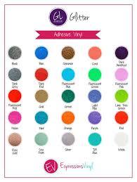 Sem Vinyl Color Chart Glitter Adhesive Vinyl Color Chart Cricut Vinyl Adhesive