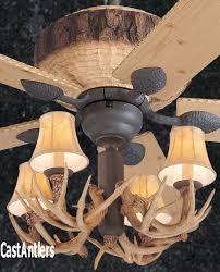 52 rustic faux antler lodge ceiling fan