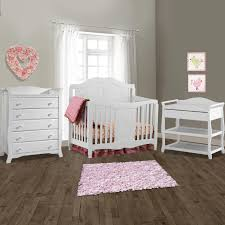 storkcraft 3 piece nursery set princess convertible crib aspen changing table and avalon 5 drawer dresser in white free
