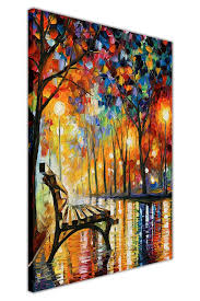 canvas it up loneliness autumn by leonid afremov oil painting reprint on framed canvas wall art on framed wall art uk with framed wall art amazon uk
