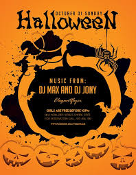 halloween template flyer halloween party freebie flyer template download for photoshop