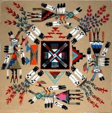 a sand painting by alvina be navajo