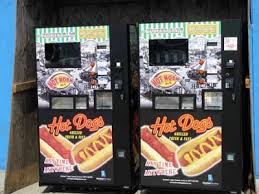 Hot Dog Vending Machines Adorable KINETIC CARNIVAL Forgo Nathan's Long Lines For Hot Dog Vending