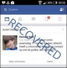automatic AMBER Alert via Facebook ...