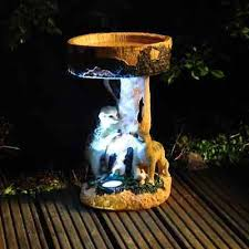 kingfisher meerkat garden bird bath