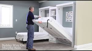 bedder way twin murphy bed operation example you