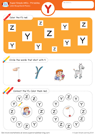 Fun printable letter a handwriting worksheets are for writing, tracing and coloring uppercase and lowercase letter a for preschool and kindergarden. Letter Recognition Phonics Worksheet Y Uppercase Super Simple