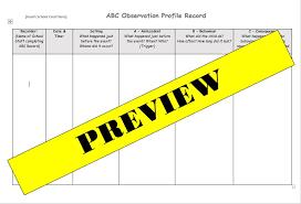 Abc Behaviour Observation Template