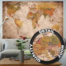 vintage world map poster retro wall art stylish home mural decor l print 1 of 9free