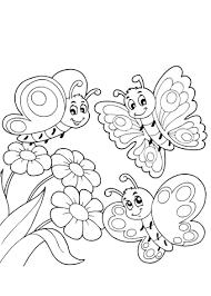 Kleurplaat Bloemen Met Vlinders 51 Kleurplaten Bloemen Met Vlinders