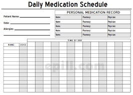 Schedule Document Template 6 Medication Intake Schedule Templates Word Templates